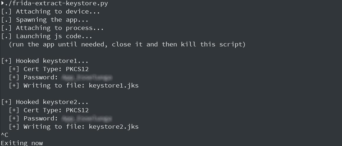 Esempio di output dello script